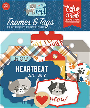 Echo Park Frames & Tags Die-Cuts - I Love My Cat