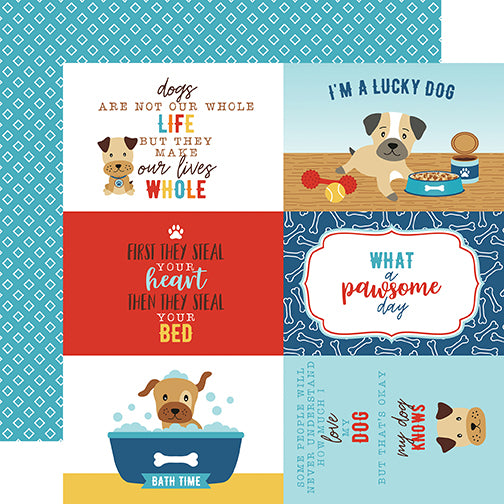Echo Park Cut-Outs - I Love My Dog - 4x6 Journaling Cards