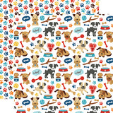 Echo Park Papers - I Love My Dog - Woof Woof - 2 Sheets