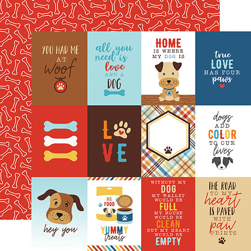 Echo Park Cut-Outs - I Love My Dog - 3x4 Journaling Cards