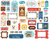 Echo Park Frames & Tags Die-Cuts - I Love My Dog