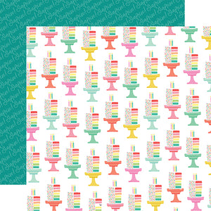Echo Park Papers - Let's Party - Cut the Cake - 2 Sheets