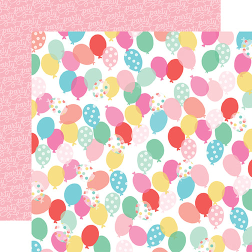 Echo Park Papers - Let's Party - Birthday Balloons - 2 Sheets