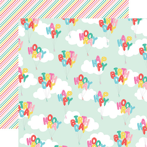 Echo Park Papers - Let's Party - Happy Birthday - 2 Sheets