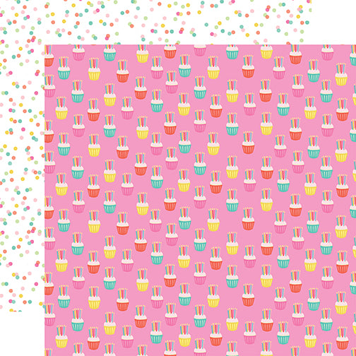 Echo Park Papers - Let's Party - Cupcake Celebration - 2 Sheets