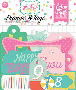 Echo Park Frames & Tags Die-Cuts - Let's Party
