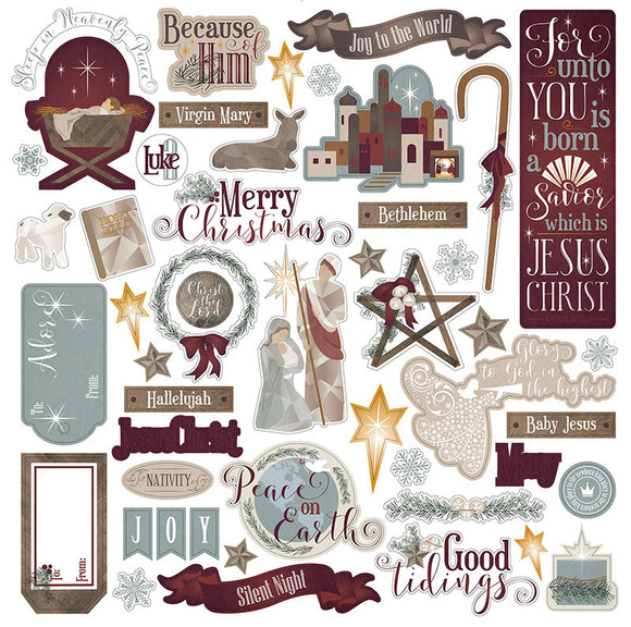 Photo Play 12x12 Cardstock Stickers - Luke 2 - Elements