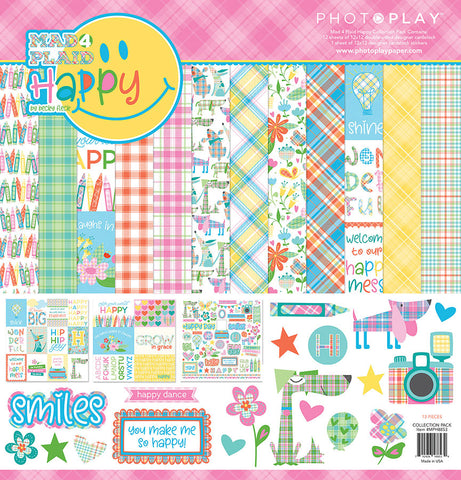Photo Play Paper Collection Kit - Mad 4 Plaid - Happy