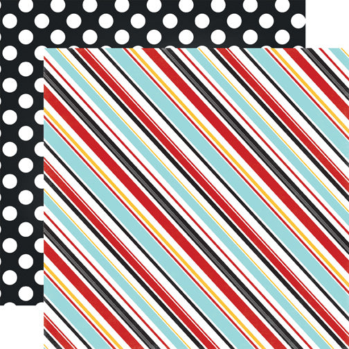 Echo Park Papers - Magical Adventure - Silly Stripes - 2 Sheets