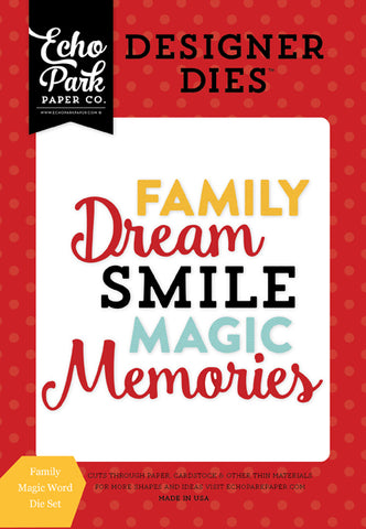 Echo Park Designer Dies - Magical Adventure - Family Magic Word Set