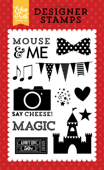 Echo Park Clear Stamp Set - Magical Adventure - Mouse and Me