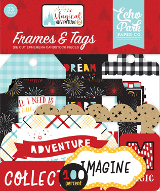Echo Park Frames & Tags Die-Cuts - Magical Adventure 2