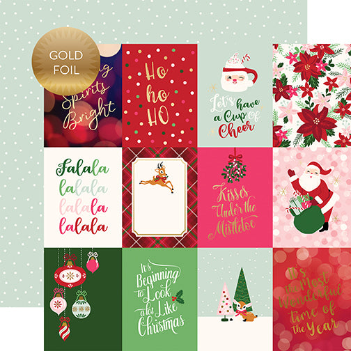 Echo Park Cut-Outs - Merry & Bright - 3x4 Journaling Cards - Foil