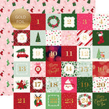 Echo Park Cut-Outs - Merry & Bright - 2x2 Journaling Cards - Foil