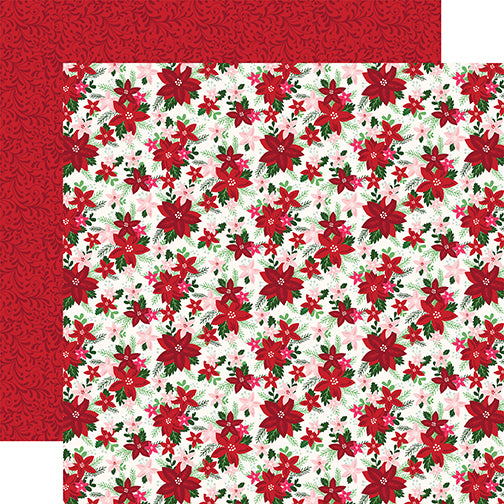 Echo Park Papers - Merry & Bright - Bright Bouquet - 2 Sheets