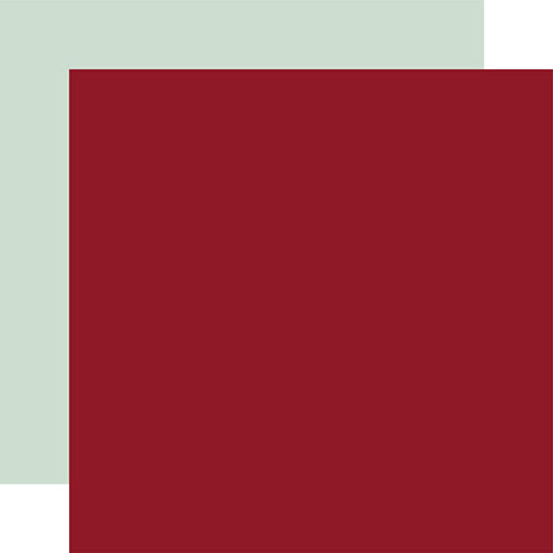 Echo Park Papers - Merry & Bright - Cranberry/Mint - 2 Sheets