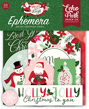 Echo Park Ephemera Die-Cuts - Merry & Bright