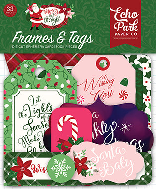 Echo Park Frames & Tags Die-Cuts - Merry & Bright
