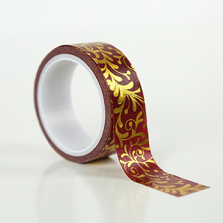 Echo Park Washi Tape - Merry & Bright - Gold Flourish