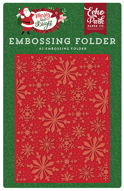 Echo Park Embossing Folder - Merry & Bright - Frosted Snowflakes