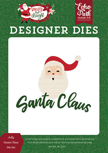 Echo Park Designer Dies - Merry & Bright - Jolly Santa Claus Die Set