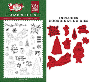 Echo Park Stamp and Die Set - Merry & Bright - Merry Christmas to You