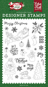Echo Park Clear Stamp Set - Merry & Bright - Merry Christmas To You