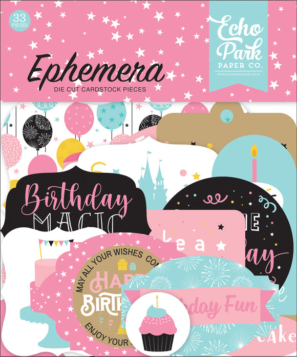 Echo Park Ephemera Die-Cuts - Magical Birthday - Girl