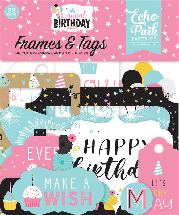 Echo Park Frames & Tags Die-Cuts - Magical Birthday - Girl