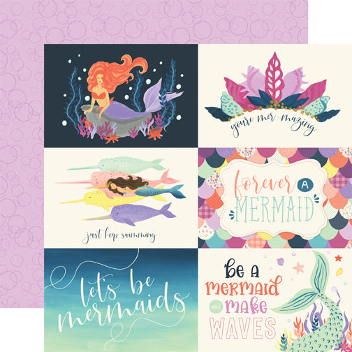 Echo Park Cut-Outs - Mermaid Dreams - 6x4 Horizontal Journaling Cards