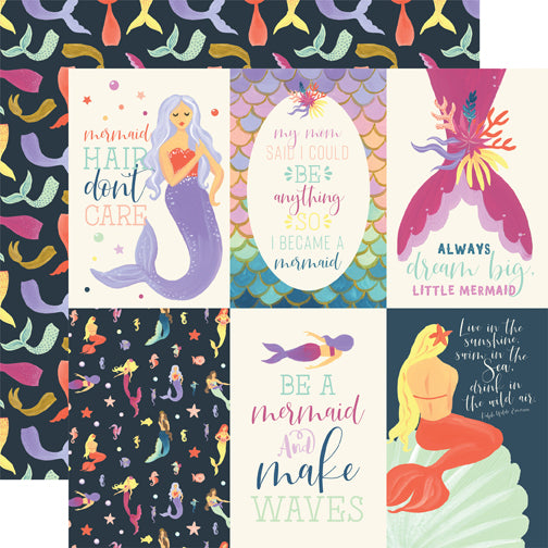 Echo Park Cut-Outs - Mermaid Dreams - 4x6 Vertical Journaling Cards