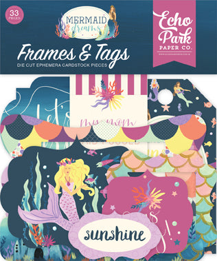 Echo Park Frames & Tags Die-Cuts - Mermaid Dreams