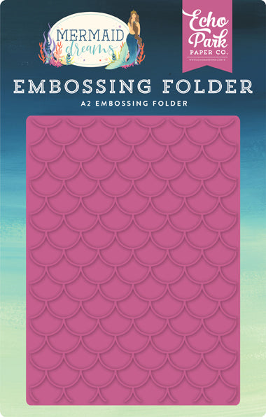 Echo Park Embossing Folder - Mermaid Dreams - Mermaid Scales