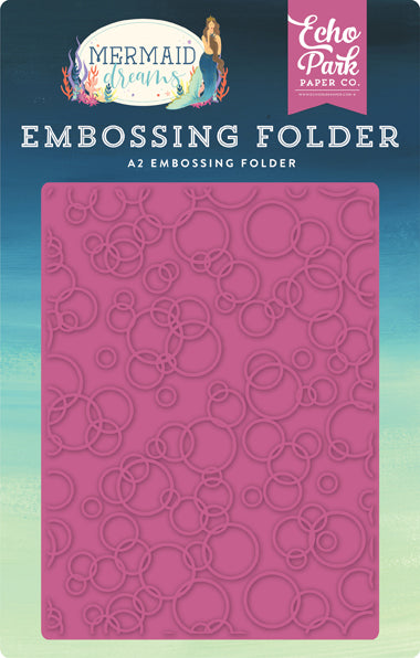 Echo Park Embossing Folder - Mermaid Dreams - Bubbles