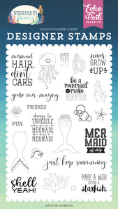 Echo Park Clear Stamp Set - Mermaid Dreams - Be a Mermaid