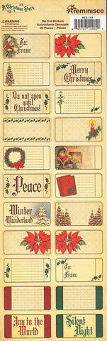 Reminisce Long Cardstock Stickers - A Christmas Story - Tags