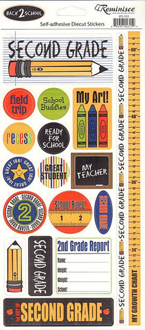 Reminisce Stickers - Back to School - Second Grade