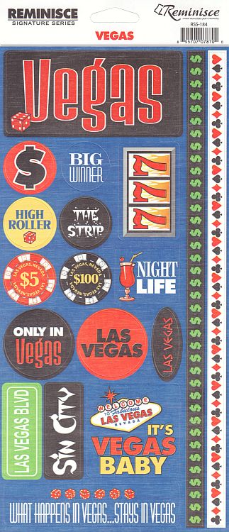 Reminisce Stickers - Vegas - Vegas