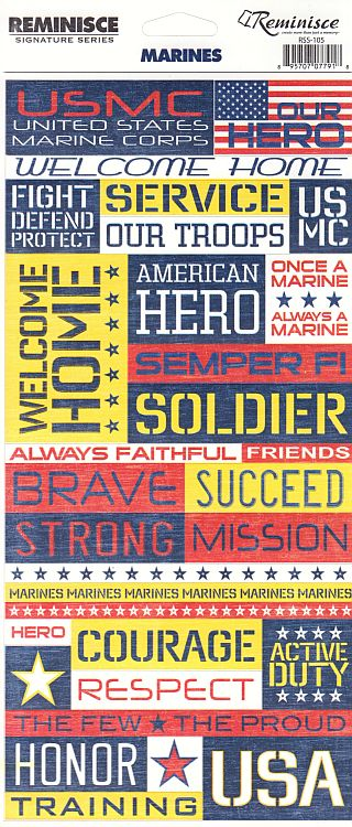 Reminisce Stickers - Marines - USMC