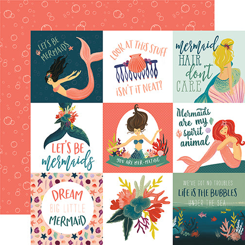 Echo Park Cut-Outs - Mermaid Tales - 4x4 Journaling Cards