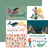 Echo Park Cut-Outs - Mermaid Tales - 4x6 Journaling Cards
