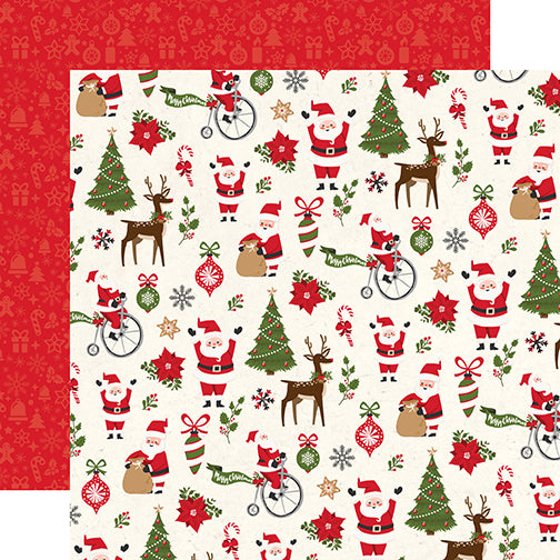 Echo Park Papers - My Favorite Christmas - Christmas Fun - 2 Sheets