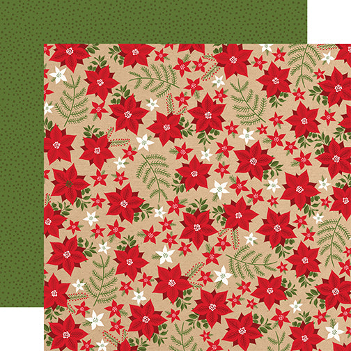 Echo Park Papers - My Favorite Christmas - Holiday Floral - 2 Sheets