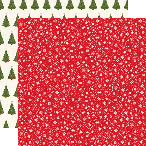 Echo Park Papers - My Favorite Christmas - Snow Flurries - 2 Sheets