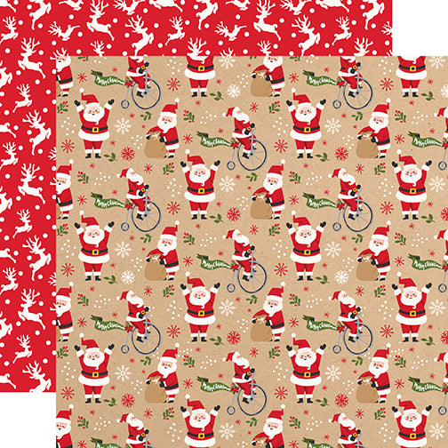 Echo Park Papers - My Favorite Christmas - Jolly Santa - 2 Sheets