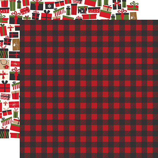Echo Park Papers - My Favorite Christmas - Winter Flannel - 2 Sheets