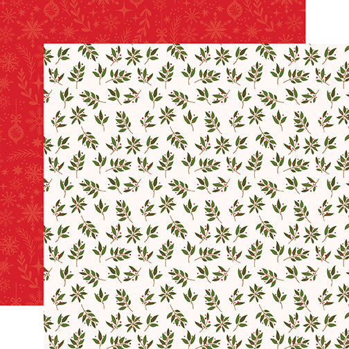 Echo Park Papers - My Favorite Christmas - Peace Love Joy - 2 Sheets