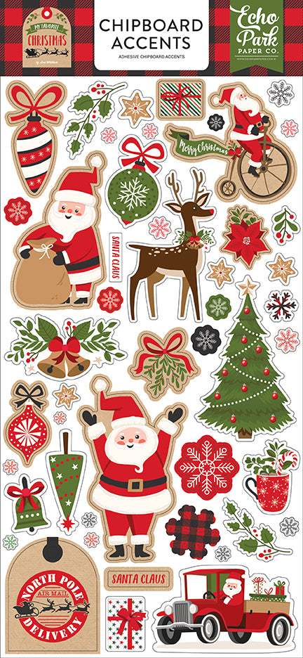 Echo Park Chipboard - My Favorite Christmas - Accents