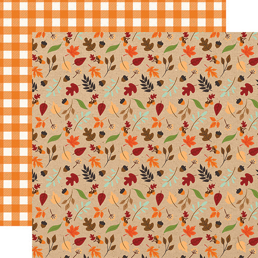 Echo Park Papers - My Favorite Fall - Fall Breeze - 2 Sheets