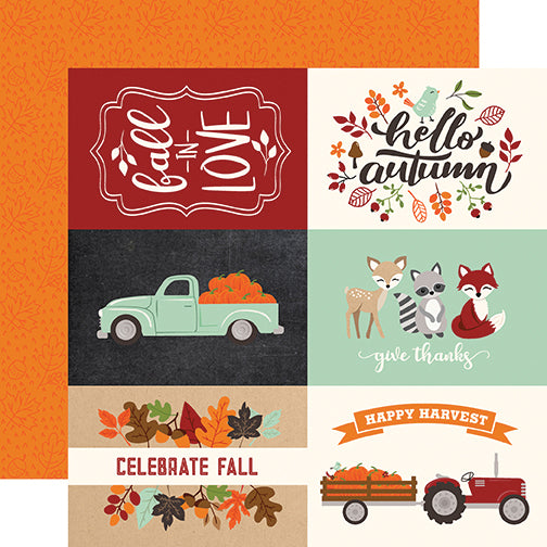 Echo Park Cut-Outs - My Favorite Fall - 4x6 Journaling Cards